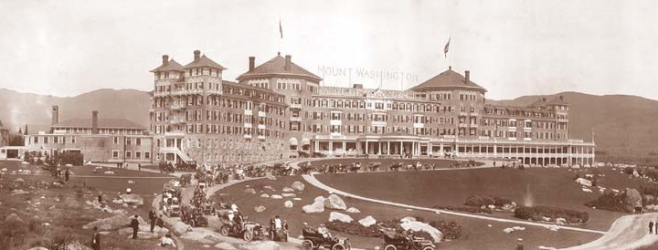 l'hôtel Mount Washington à Bretton Woods (Caroll, New Hampshire), en 1905
