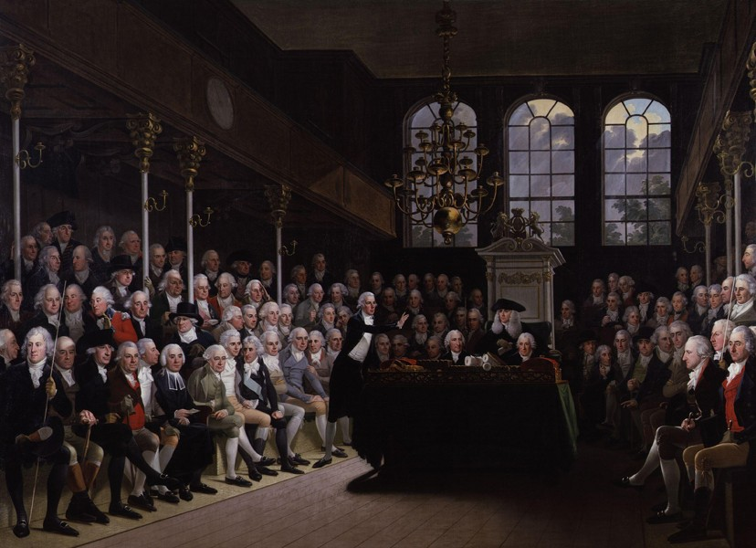 La Chambre des communes de 1793 à 1794, Karl Anton Hickel, Londres, National Portrait Gallery.