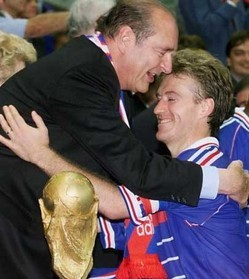 Jacques Chirac et Didier Deschamps, DR