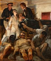 Etude pour Le choléra-morbus à bord de la Melpomène, 1833.