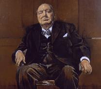 Churchill, portrait réalisé par le peintre Graham Sutherland en 1954.
