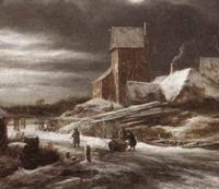 Paysage d'hiver, par Jacob von Ruisdael.