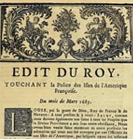 Louis XIV édicte le Code Noir en mars 1685.