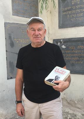 Adam Liban, responsable de la synagogue Rem''ou, fils d'un Juif sauvé par Schindler. Photo : Charlotte Chaulin, juin 2019.