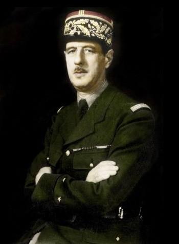 Portrait de Charles de Gaulle à Londres (1940, oeuvre anonyme)