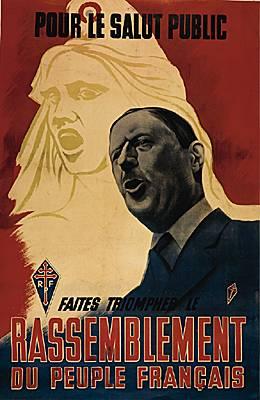 Affiche du RPF, Rassemblement du Peuple Français.