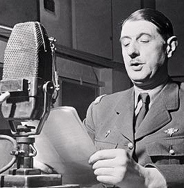 Charles de Gaulle à la BBC en 1940, DR