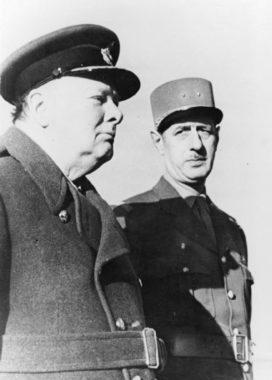 Churchill et de Gaulle pendant la guerre.