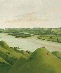 George Catlin, Les prairies du fleuve Poncas, 1832, Washington.