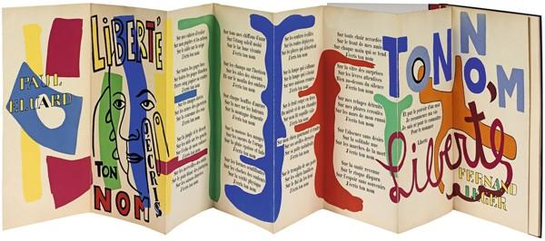 Poème « Liberté » illustré par Fernand Léger, 1953, Biot, musée national Fernand Léger.