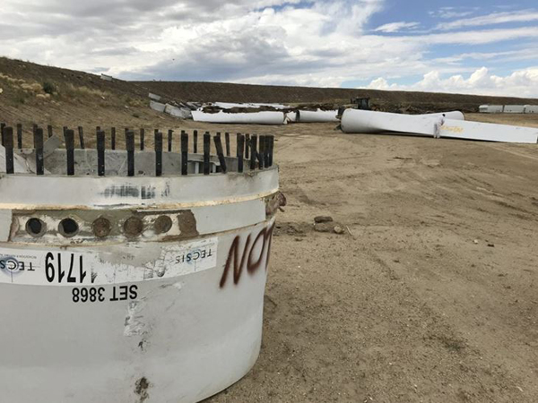 Éoliennes abndonnées, USA, Casper Wyoming, 1er août 2019, DR.