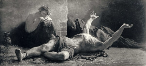 Le désespoir (1883), Wojciech Gerson, 1883, Varsovie, ministère de la Culture.