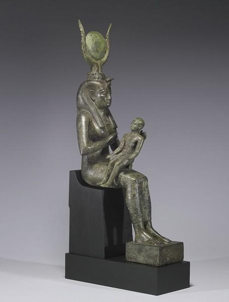 Isis allaitant Horus, entre 640 et 680 av. J.-C.,  Walters Art Museum, Balimore, Maryland.