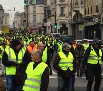 Les « gilets jaunes » à Reims le 29 décembre 2018.