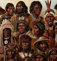 Représentation des différents Amérindiens.