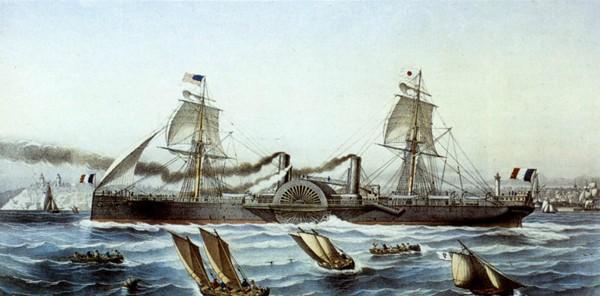 L'Impératrice Eugénie, rebaptisé Atlantique après la chute de l'empereur Napoléon III, collection Ecomusée de Saint-Nazaire, DR.