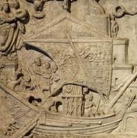 Bas-relief de la propriété du prince Torlonia à Ostie.