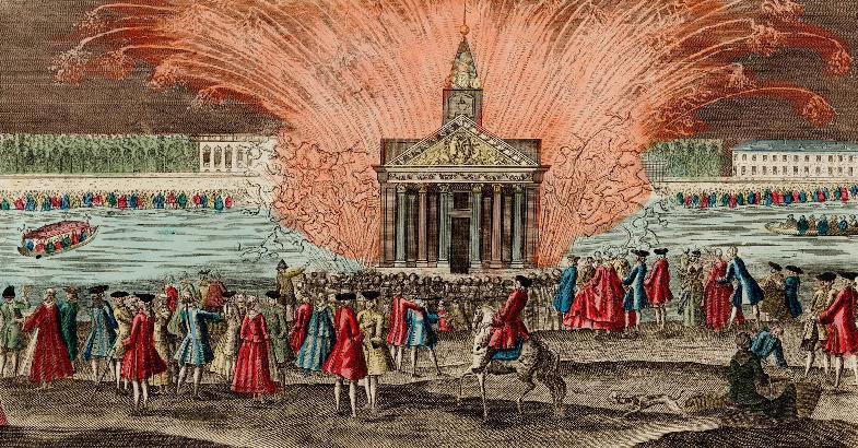 Feu d'artifice à l'occasion du mariage du Dauphin et de Marie-Antoinette (16-18 mai 1770)