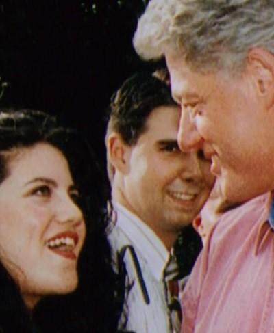 Monica Lewinski et le président Bill Clinton