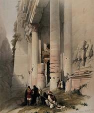 El Khasnè, Pétra, gravure de David Roberts, 1849.