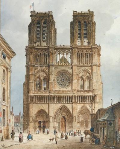 Représentation de la cathédrale Notre-Dame de Paris.