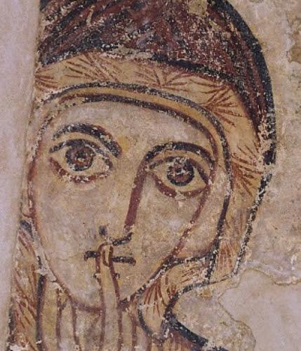 Sainte Anne, fresque de la cathédrale engloutie de Faras (Nubie)