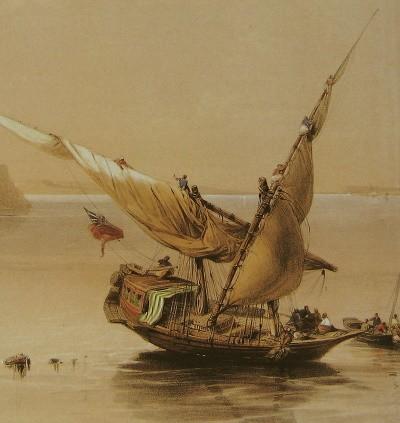 David Roberts, A proximité de Qsar Ibrim, Nubie, 1838.