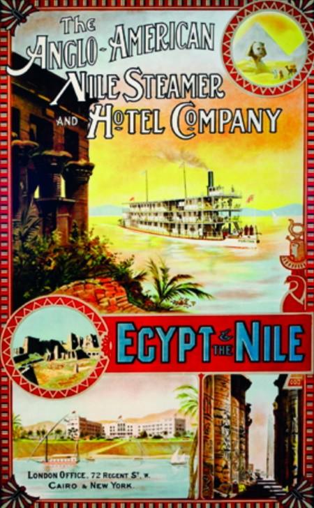 Affiche pour des croisières sur le Nil,