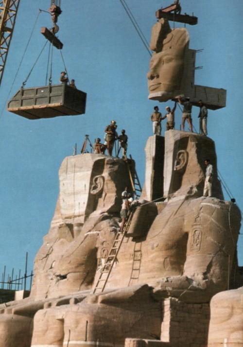 Sauvetage du temple d'Abou Simbel, 1967