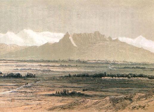 Vues sur Kashgar, illustrations extraites de l'ouvrage Visite en Haute Tartarie, Robert Shaw, 1868.
