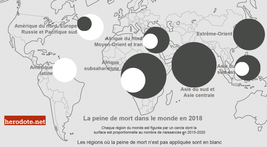 La peine de mort dans le monde en 2018 (Herodote.net)
