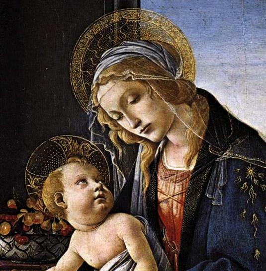 Sandro Botticelli, Vierge à l'enfant, 1483.