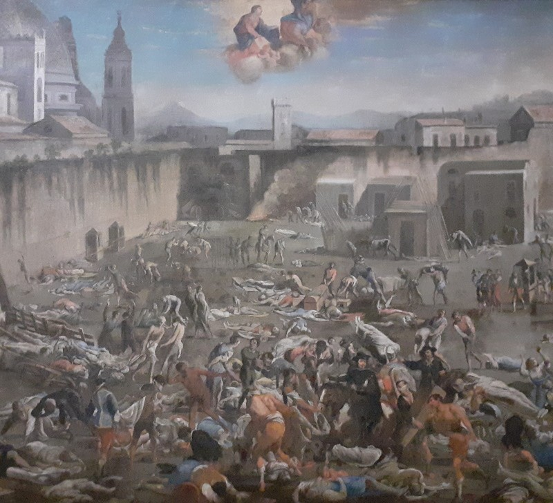 La peste au largo del Mercatello, à Naples, 1656 (Domenico Gargiulo dit Micco Spadaro)