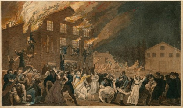 Benjamin Tanner, Incendie du théâtre de Richmond, 1811, The New York Public Library.