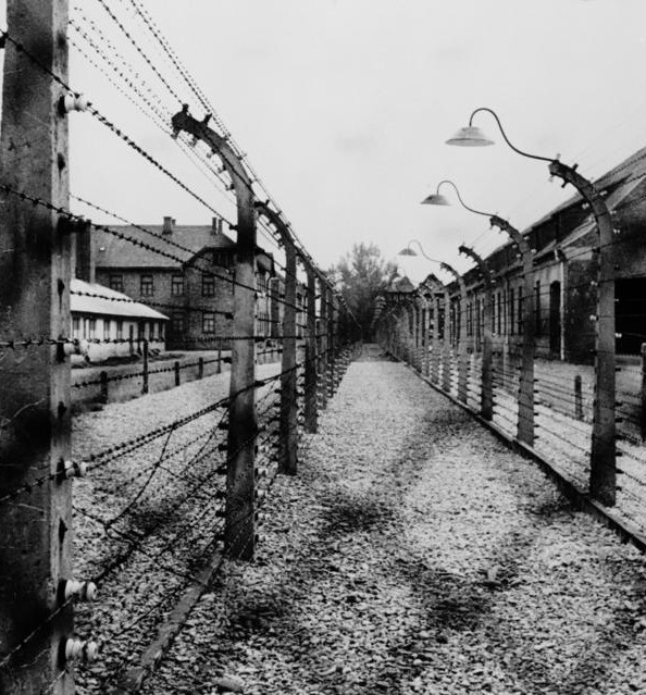 Camp de concentration d'Auschwitz près de Cracovie en Pologne, DR.
