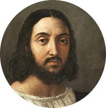 Raphaël (1483-1520), autoportrait (détail), 1518, palais Pitti, Florence.