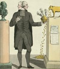 Caricature de l'abbé Maury en homme à double face intitulée Le Veau d'or, Paris, BnF Gallica.