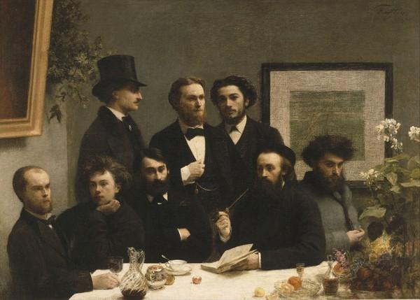 Henri Fantin-Latour, Un Coin de table, 1872, Paris, musée d'Orsay. Paul Verlaine et Arthur Rimbaud sont assis à gauche.