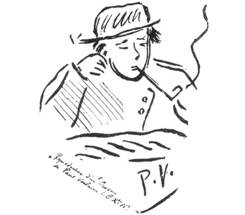 Paul Verlaine, Portrait d'Arthur Rimbaud fumant, 1886.