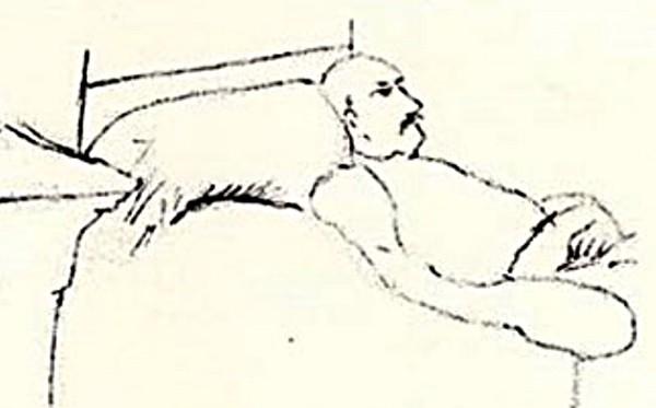 Isabelle Rimbaud, Arthur Rimbaud sur son lit de mort, 1891.