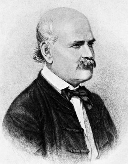 Ignace Philippe Semmelweis par Jenő Doby, gravure sur cuivre (1860).