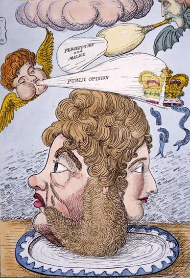 George IV et son épouse Caroline (caricature)