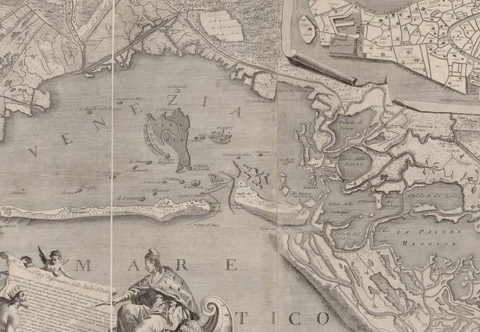Ludovico Furlanetto, Mappa topografica in cui a venti, e misure dimostrati il Circondario della Laguna Veneta con tutte le addiacenti respettive valli in essa contenute, env. 1780.
