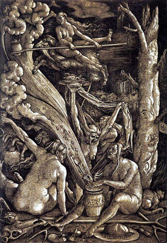 Hans Baldung Grien, Le Sabbat des Sorcières, 1510
