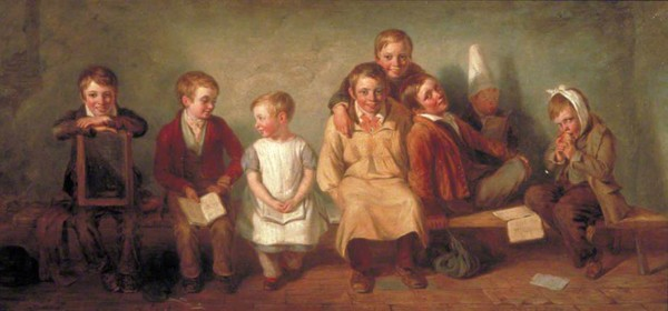 Le sourire, Thomas Webster, 1842, Londres, Guildhall Art Gallery.