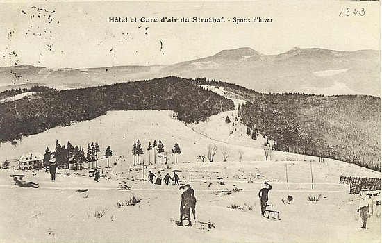 Carte postale, Hôtel et Cure d'air du Struthof. Collection du mémorial du Struthof (CERD)
