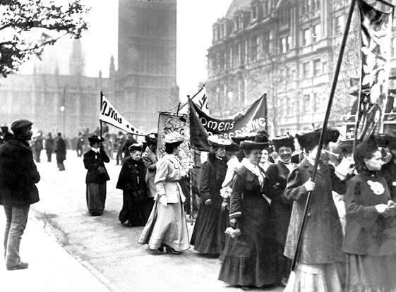 Manifestation de suffragettes à Londres en 1906