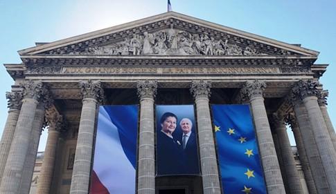 Simone et Antoine Veil sont entrés au Panthéon le 1er juillet 2018.