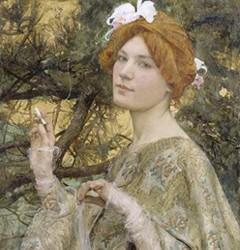 Femme à l'orchidée, 1900, Edgar Maxence, Paris, musée d'Orsay.