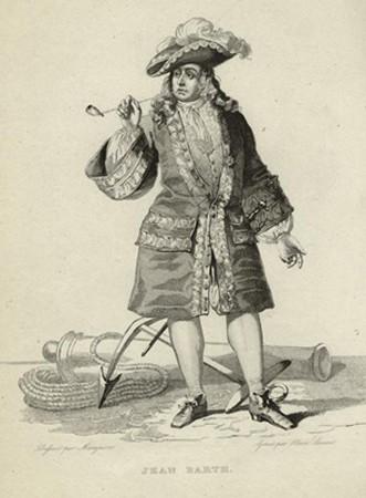 Gravure du corsaire Jean Bart, New York Public Library.